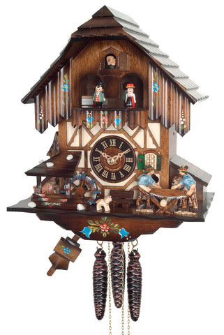 Engstler 8 Day Musical Cuckoo Clock Painted MD424-12
