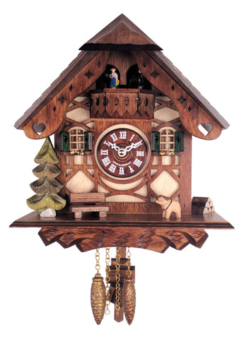 N118-QP Novelty German Cuckoo Clock with Dancers