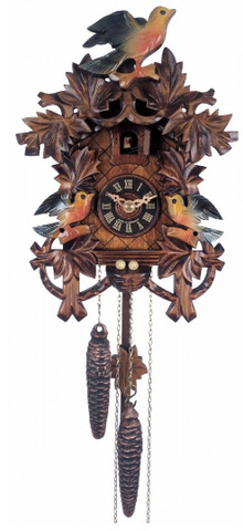 Engstler 1 Day Painted Birds Cuckoo Clock 17-10P