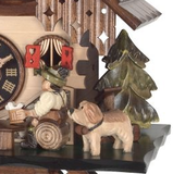 Engstler 1 Day Cottage Cuckoo Clock w/ Beer Drinker 20-13