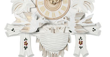 Engstler 1 Day White and Gold Cuckoo Clock 15-13W