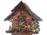 Engstler 1 Day Carved Fisherman Cuckoo Clock 16-11