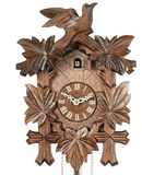 Engstler 1 Day Carved Cuckoo Clock Leaves & Birds 811-13
