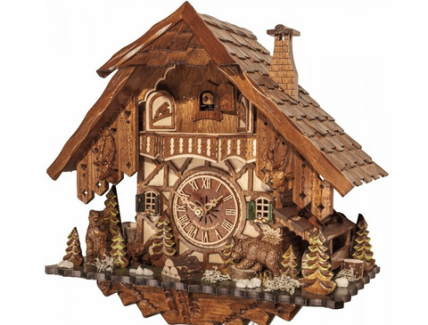 8 Day Engstler Chalet Bear Themed Cuckoo Clock 854-17