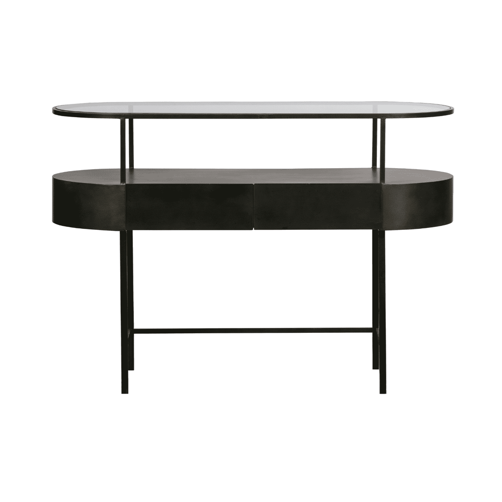 Masa SIDETABLE din Metal si Sticla 120cm WOOOD