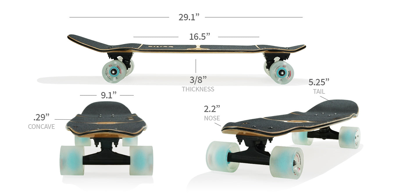 bonsai longboard specs and sizes