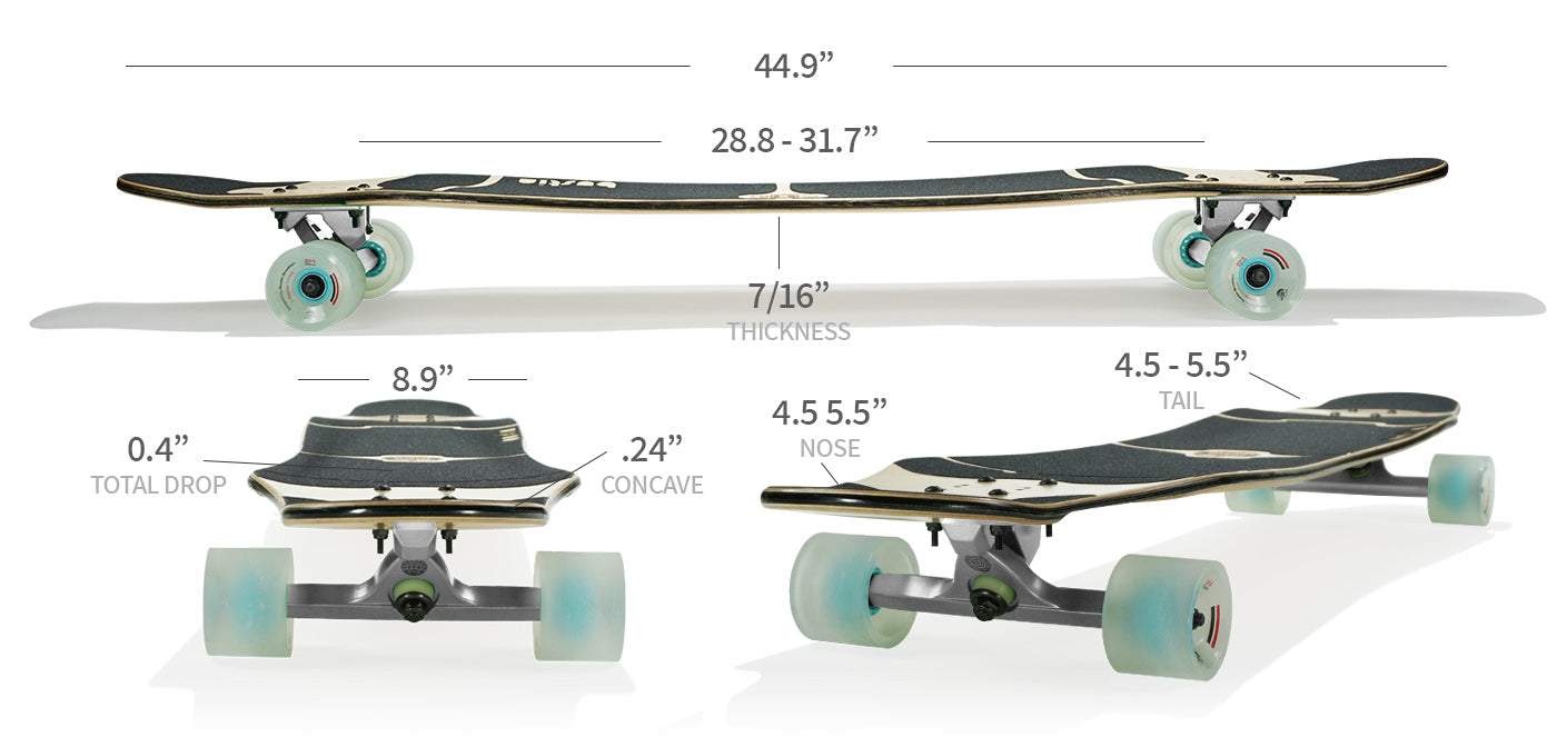 daenseu longboard specs and sizes