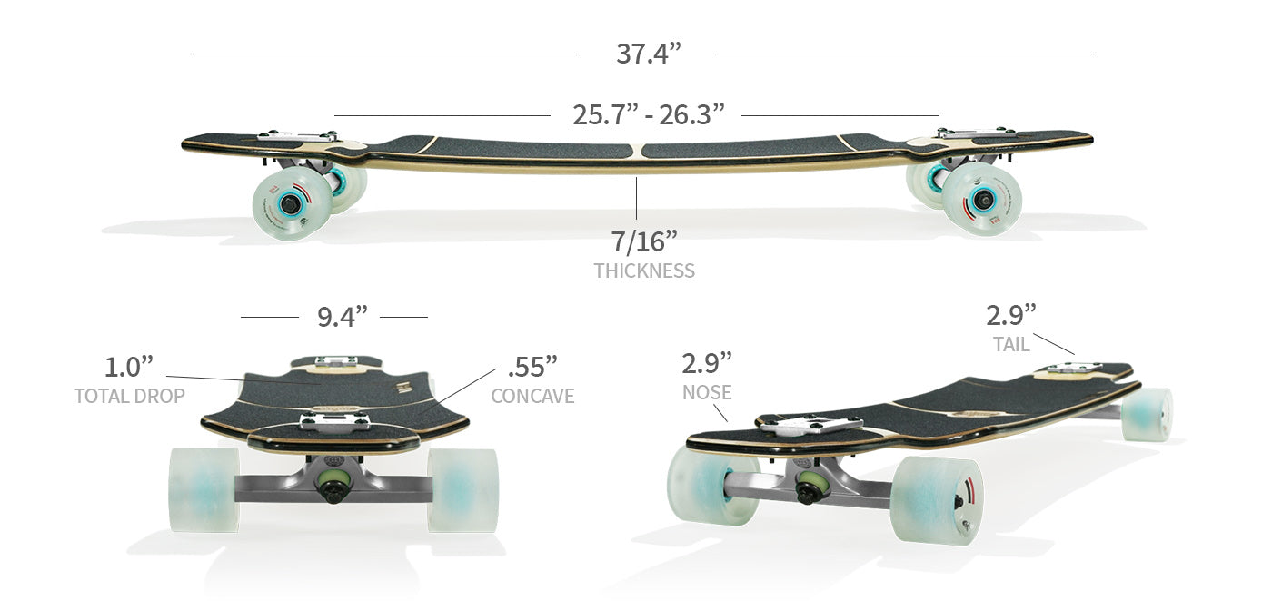 maestro longboard specs and sizes