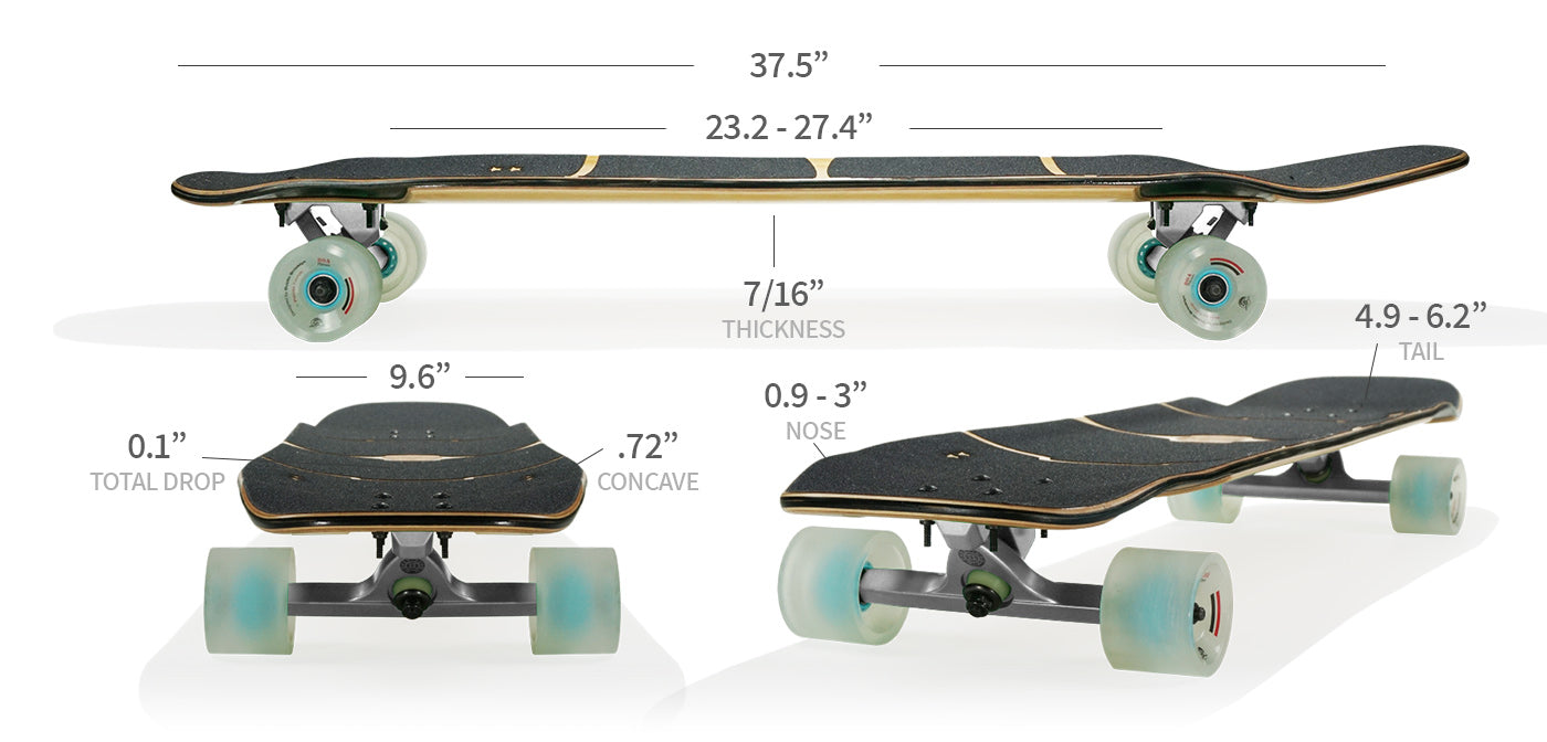 royce longboard specs and sizes