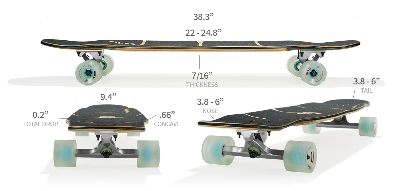 shrike longboard specs and sizes
