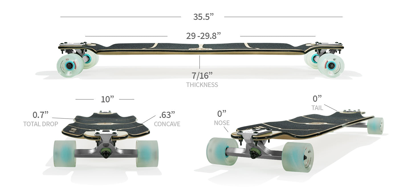 sportster longboard specs and sizes
