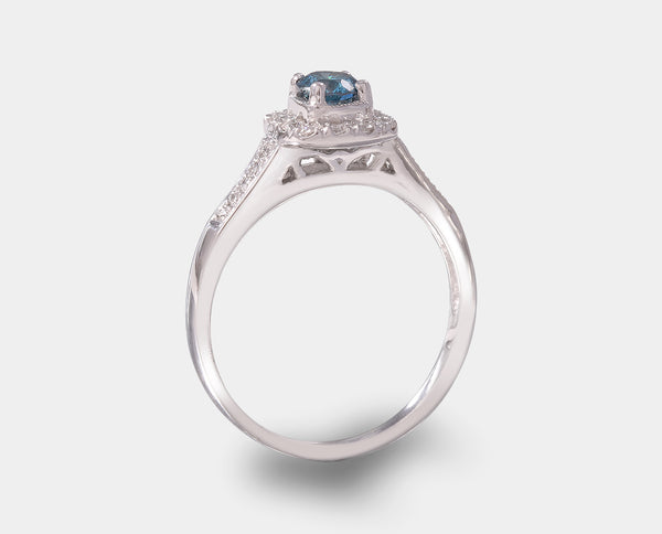 ANILLO DE COMPROMISO CON DIAMANTE AZUL (ENHANCED) AH2-E189B-DBLUE