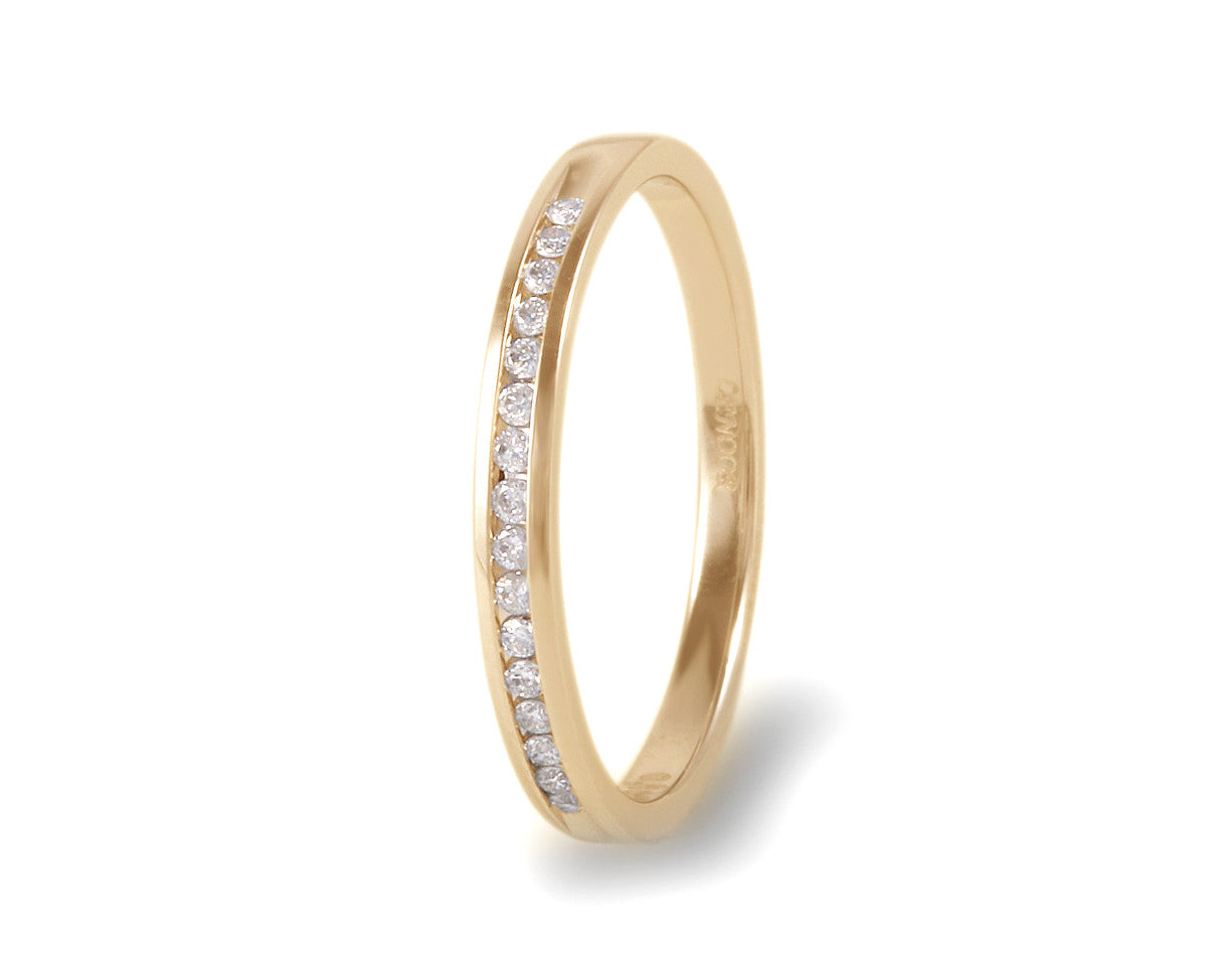 Churumbela oro amarillo con diamante