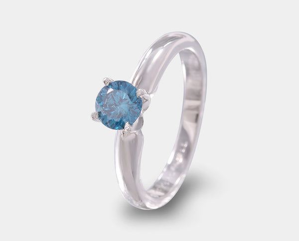 ANILLO DE COMPROMISO CON DIAMANTE AZUL (ENHANCED) AH2-E190B-DBLUE