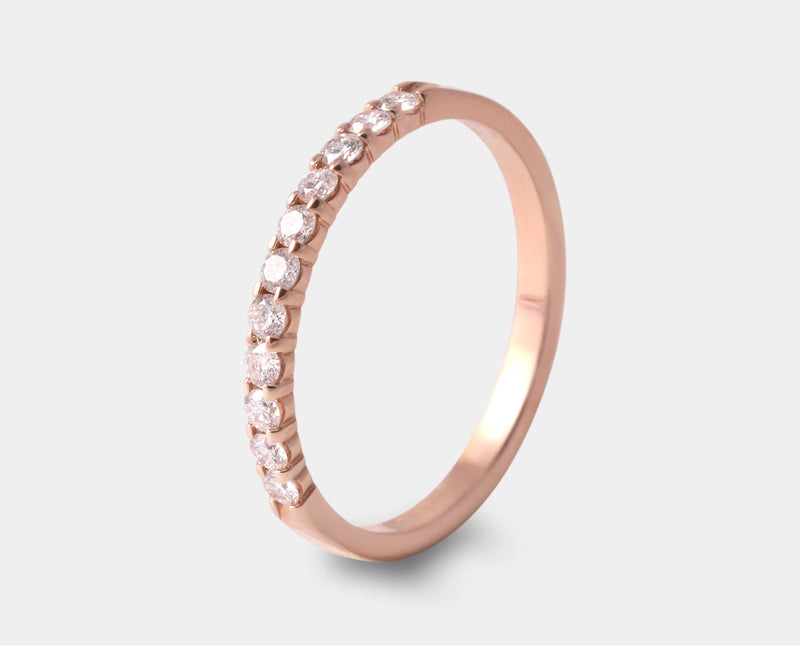 churmbela oro rosa con diamante
