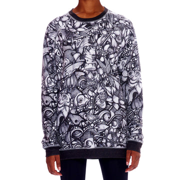 Allover Print Sweatshirt