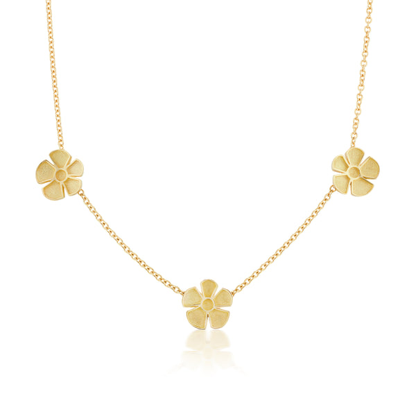 ALESSIA SMALL SATIN CLASSIC CHAIN NECKLACE - 18K YELLOW GOLD