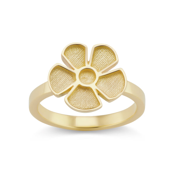 ALESSIA SMALL SATIN RING - 18K YELLOW GOLD