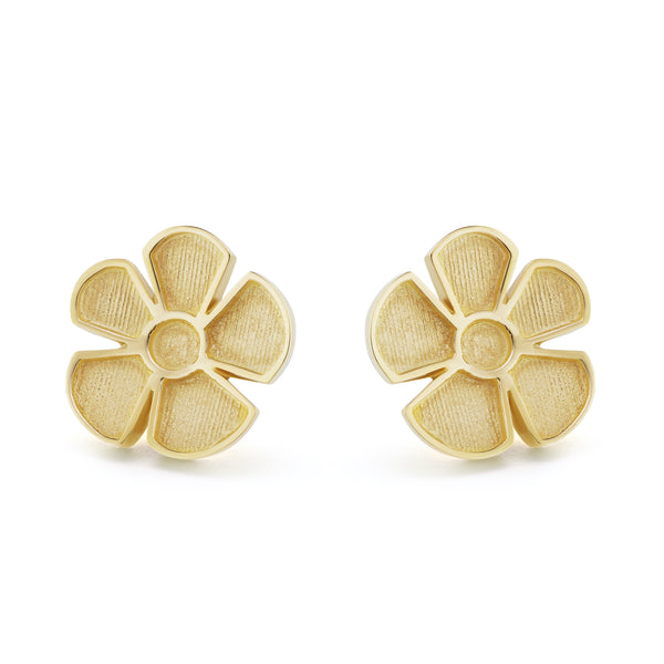 ALESSIA SMALL SATIN EARRINGS - 18K YELLOW GOLD