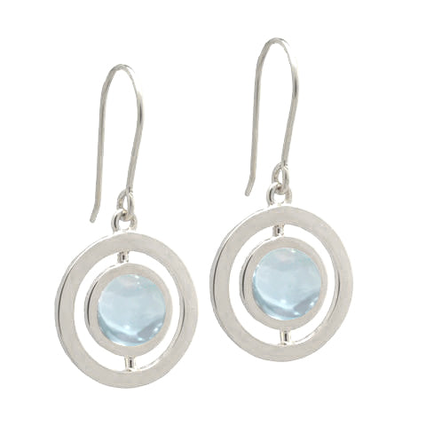 ANELLO EARRINGS with AQUAMARINE - 18K WHITE GOLD