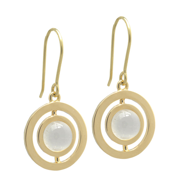 ANELLO EARRINGS with MOONSTONE - 18K YELLOW GOLD