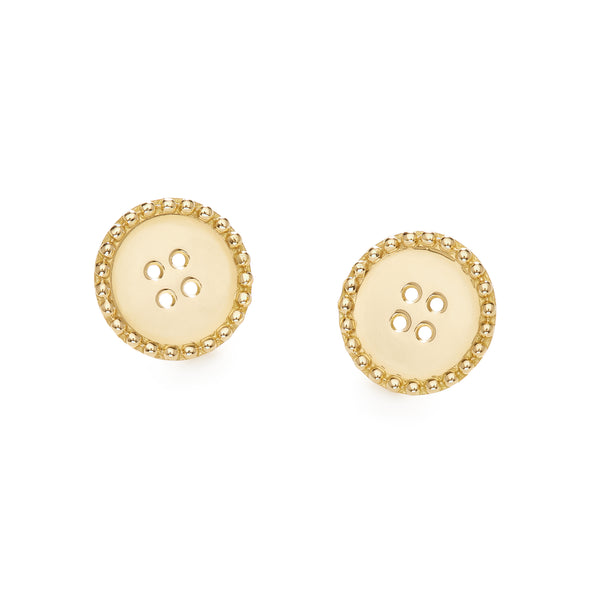 BUTTON MINI EARRINGS - 18K YELLOW GOLD
