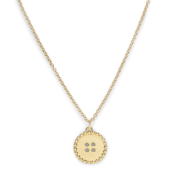 BUTTON CLASSIC CHAIN NECKLACE - 18K YELLOW GOLD