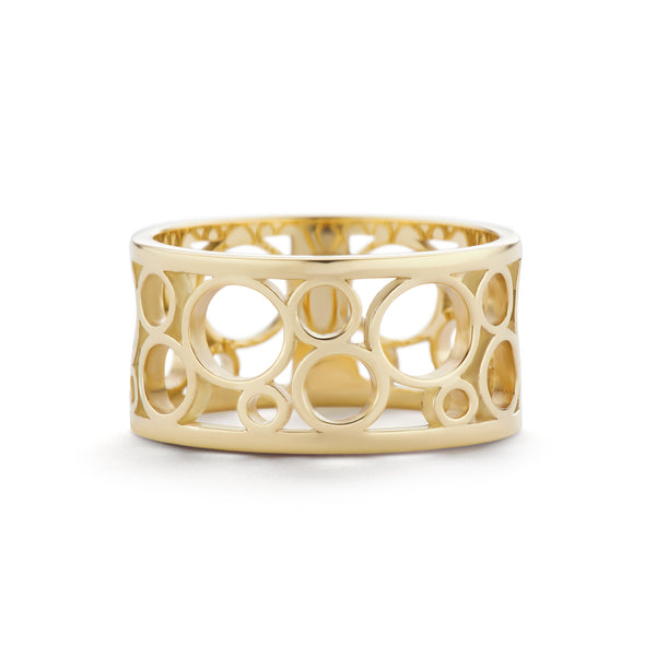 CIRCLES RING - 18K YELLOW GOLD