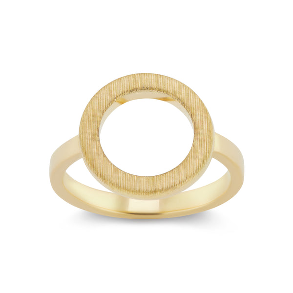 DUETTO SATIN RING - 18K YELLOW GOLD