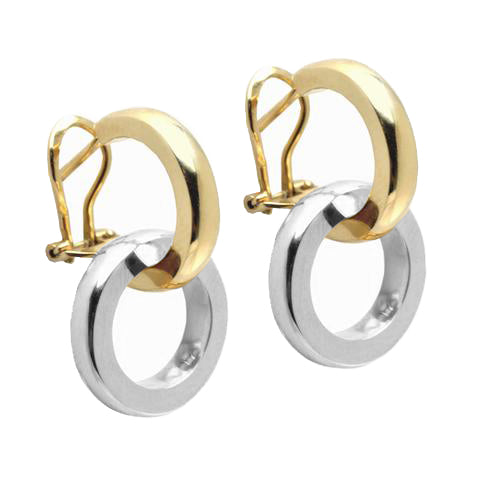 DUETTO EARRINGS - 18K YELLOW/WHITE GOLD
