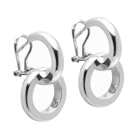 DUETTO EARRINGS - 18K WHITE GOLD