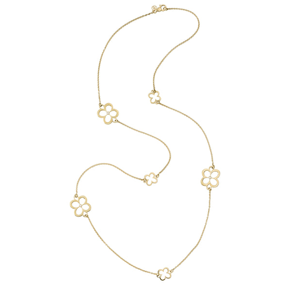 "FIORE 37"" CLASSIC CHAIN NECKLACE with DIAMONDS"