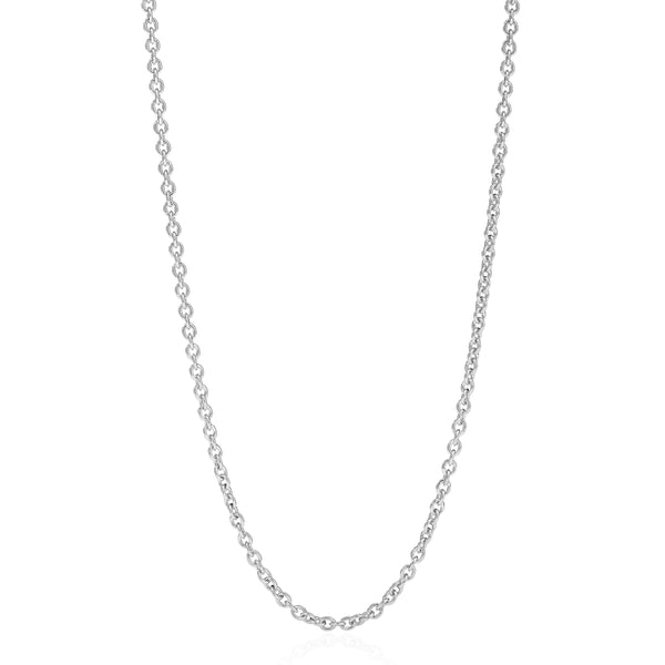 "LUXE CHAIN 37"" - 18K WHITE GOLD"