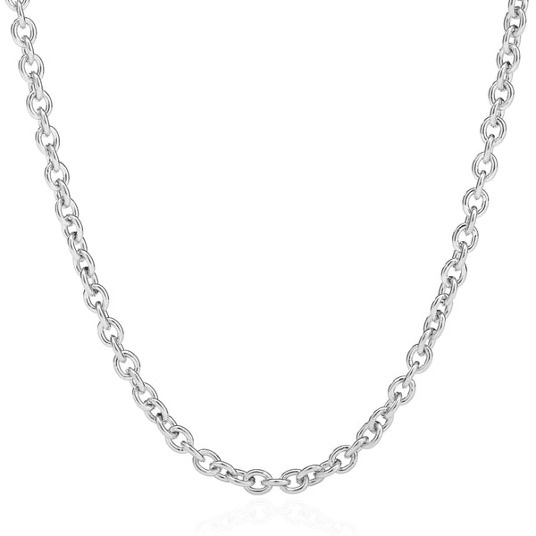 "LUXE CHAIN 16"" - 18"" - 18K WHITE GOLD"