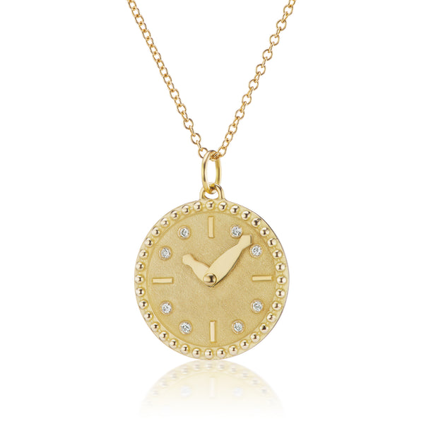 MY TIME PENDANT - 18K YELLOW GOLD