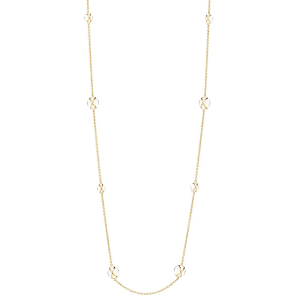 "PRISMA CRYSTAL QUARTZ 37"" LUXE CHAIN NECKLACE - 18K YELLOW GOLD"