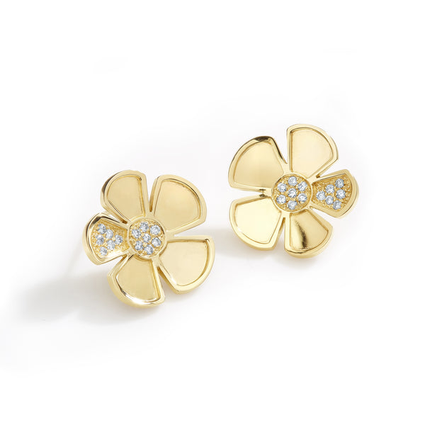 ALESSIA LARGE EARRINGS - 18K YELLOW GOLD