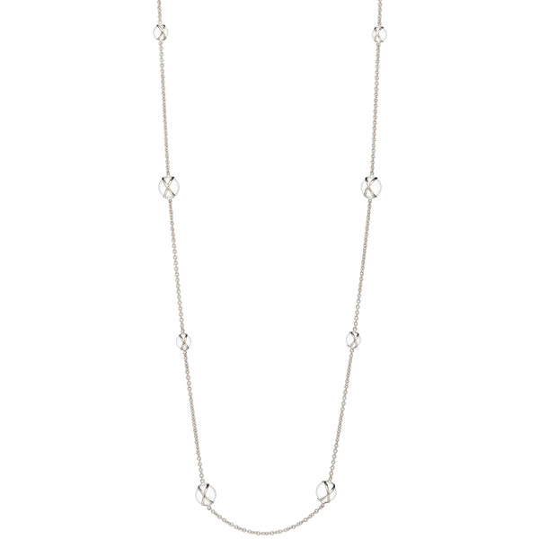 "PRISMA CRYSTAL QUARTZ 37"" NECKLACE - 18K WHITE GOLD"