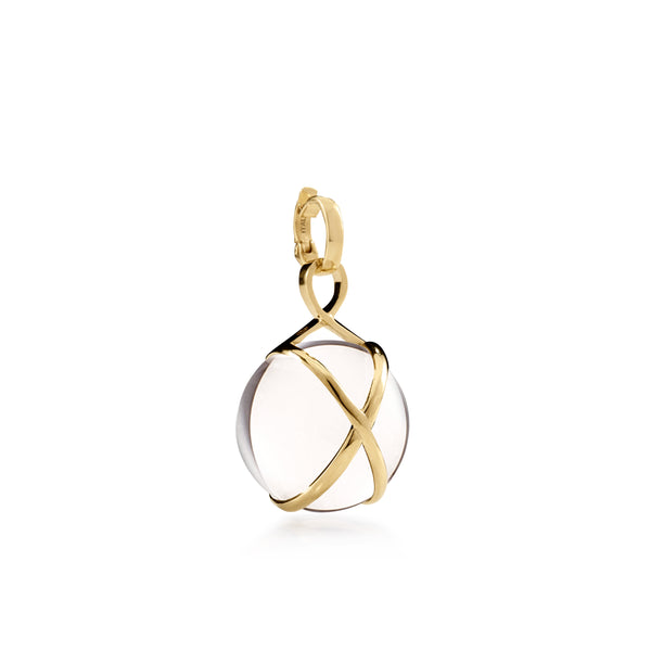 PRISMA CRYSTAL QUARTZ MEDIUM PENDANT - 18K YELLOW GOLD