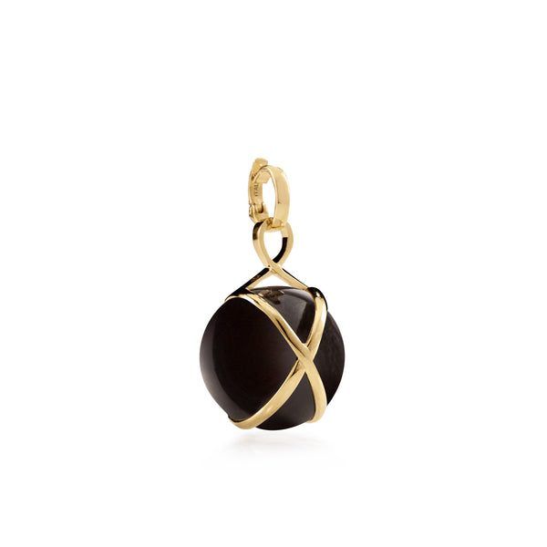 PRISMA BLACK AGATE MEDIUM PENDANT - 18K YELLOW GOLD