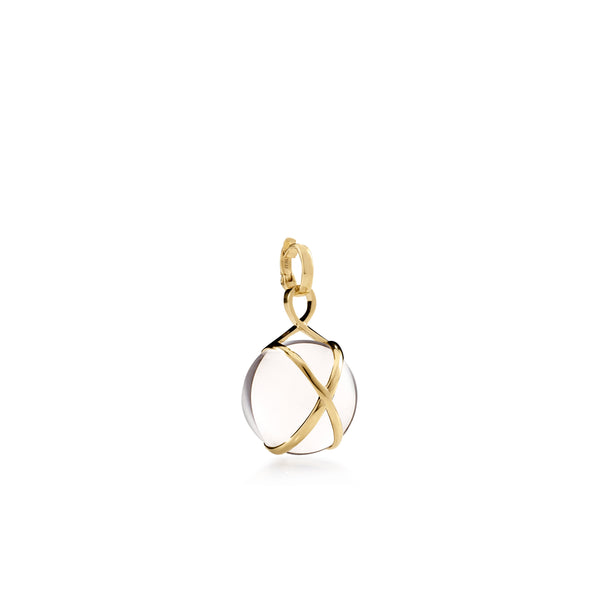 PRISMA CRYSTAL QUARTZ SMALL PENDANT - 18K YELLOW GOLD