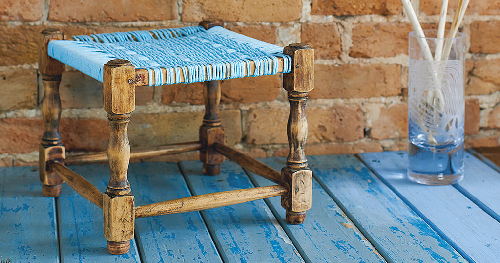 Jersey Rope Footstool