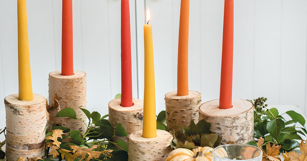 Dipped Candles for Autumn
