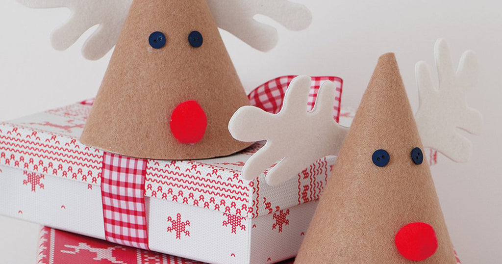Felt Cone Reindeer Decoration