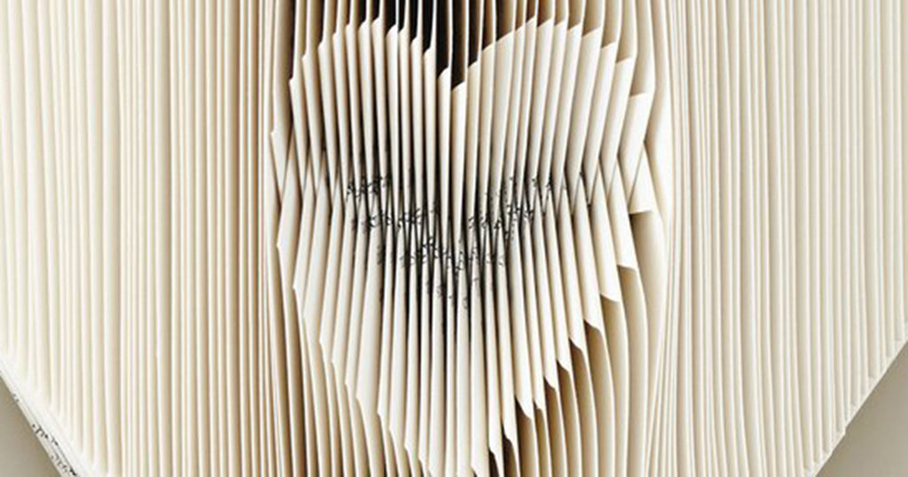 Heart-shaped Folded Book Art