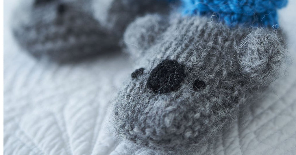 Knitted Koala Bootees