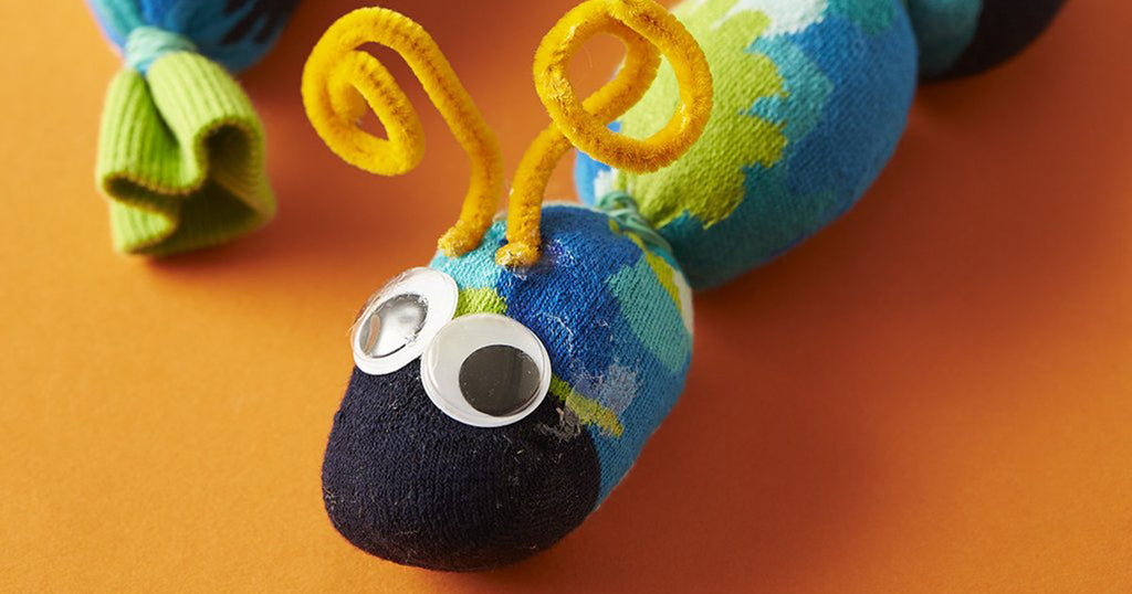 How to make a sock caterpillar