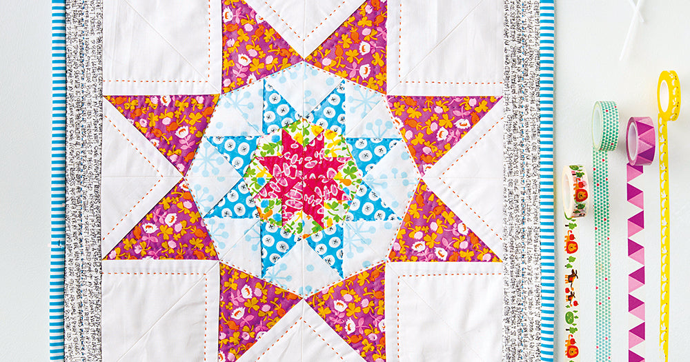 Star Patterned Miniature Quilt