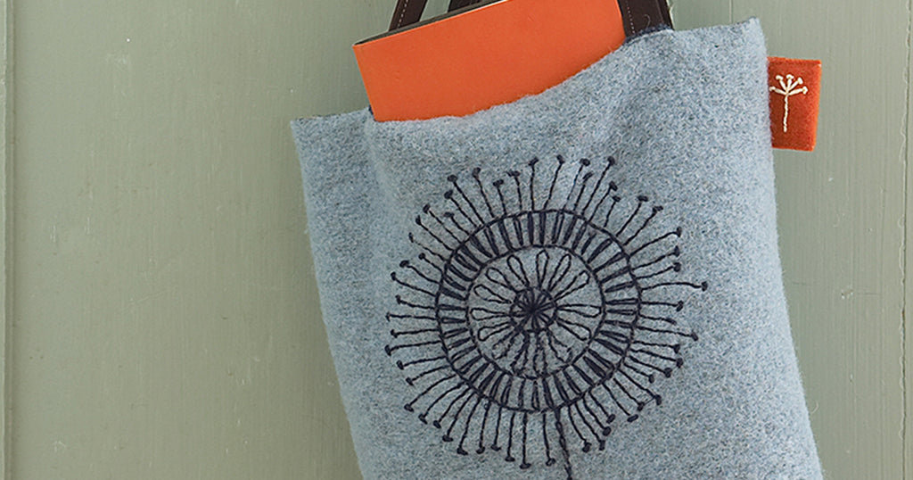 Scandi Embroidered Felted Bag