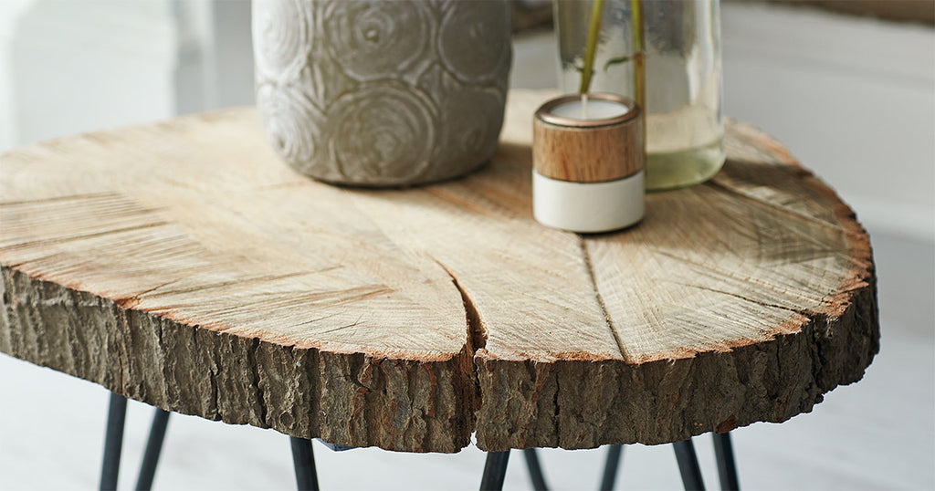 DIY Tree Slab Coffee Table
